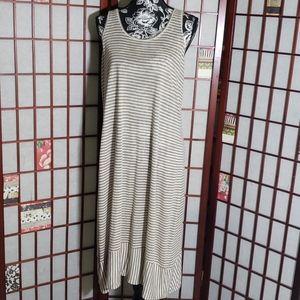 Eileen Fisher striped sleeveless tunic dress S